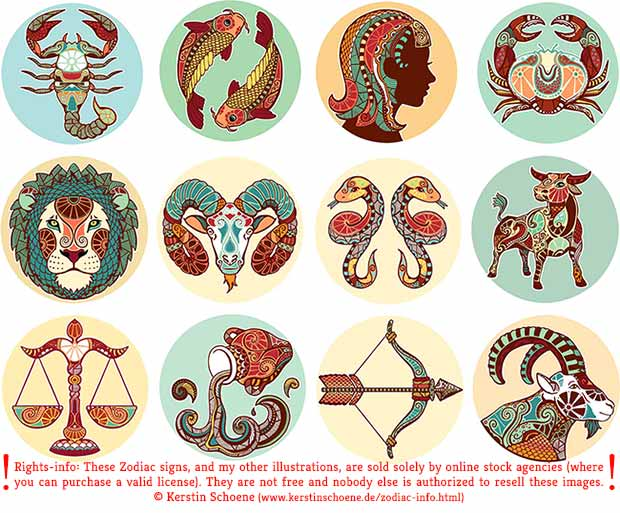 zodiac, signs, vector, download, free, grafic, set
