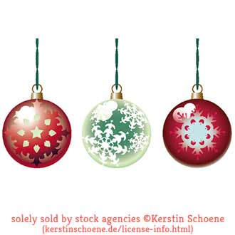 christmas balls, set, collection, stock, image, license, vector,