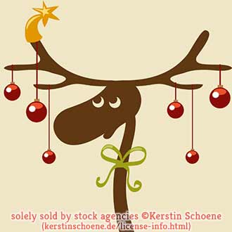christmas, deer, vector, stock, image, vector, art,
