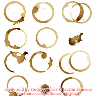 coffee stains, isolated, different, set, collection, stock, license,