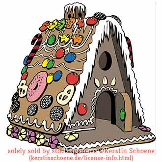 gingerbread house, vector, christmas,
