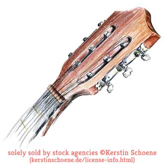 guitar, drawing, sketch, stock, image, art,