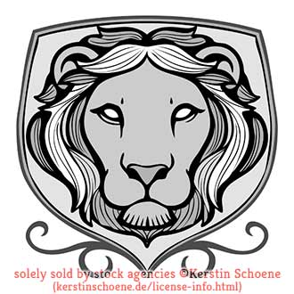 lion, heraldic, vector, tattoo, lineart, stock, image, vector, art,