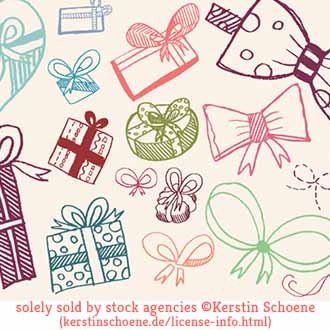 gift, ribbons, doodle set, grunge, stock, image, vector, art,