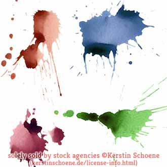splashes, stains, isolated, colorful, set, collection, stock, license,